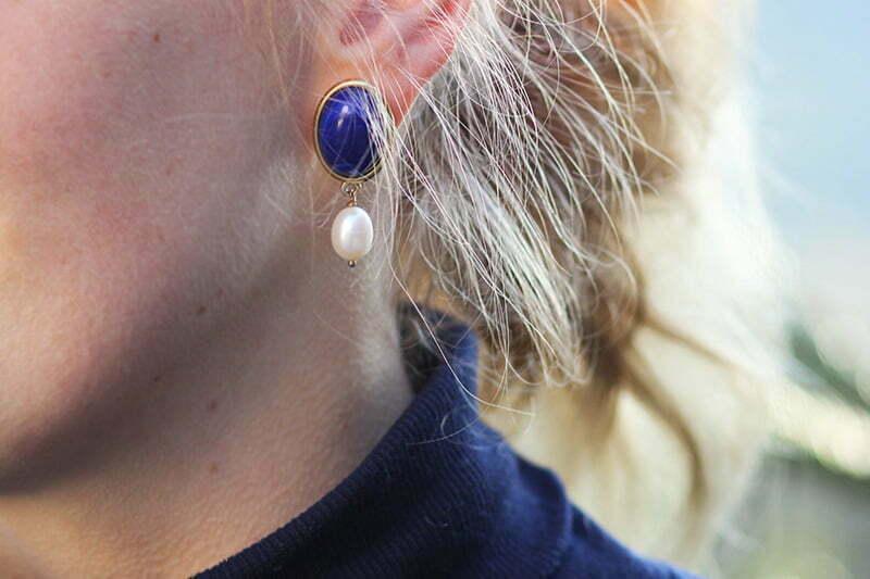 Outfit für Weihnachten: Perlenohrringe von SchwesterSchwester