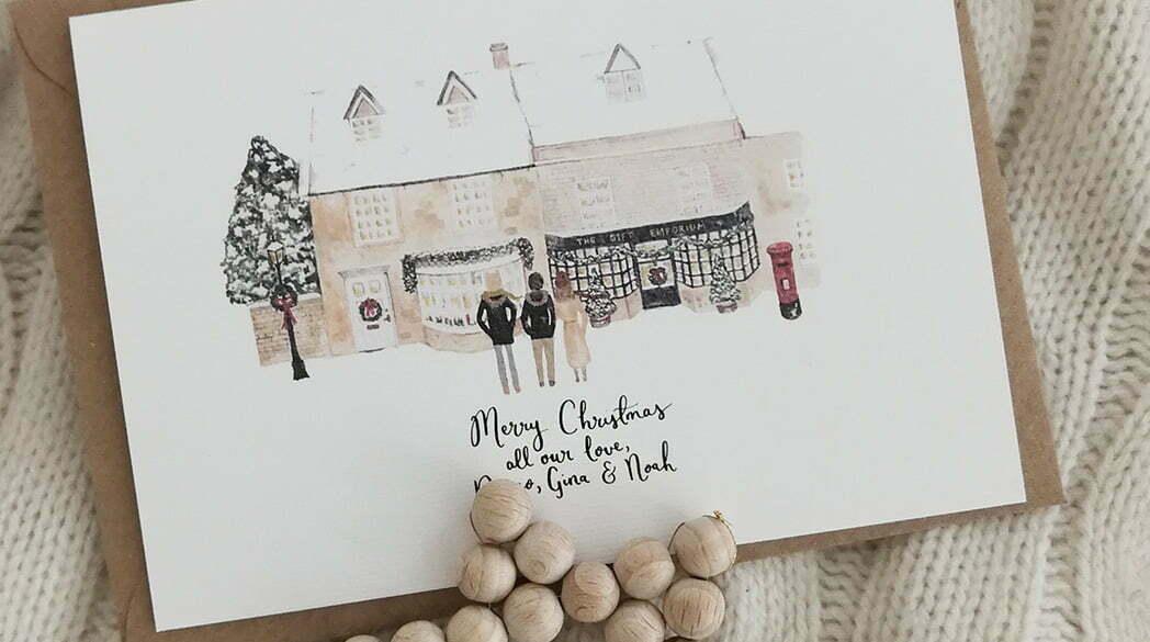 Personalisierte Weihnachtskarte von Wildflower Illustration Co.