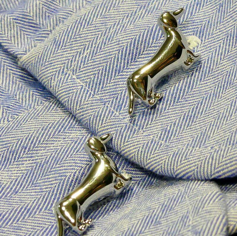 Dackel-Design: Manschettenknöpfe mit Dackel-Motiv