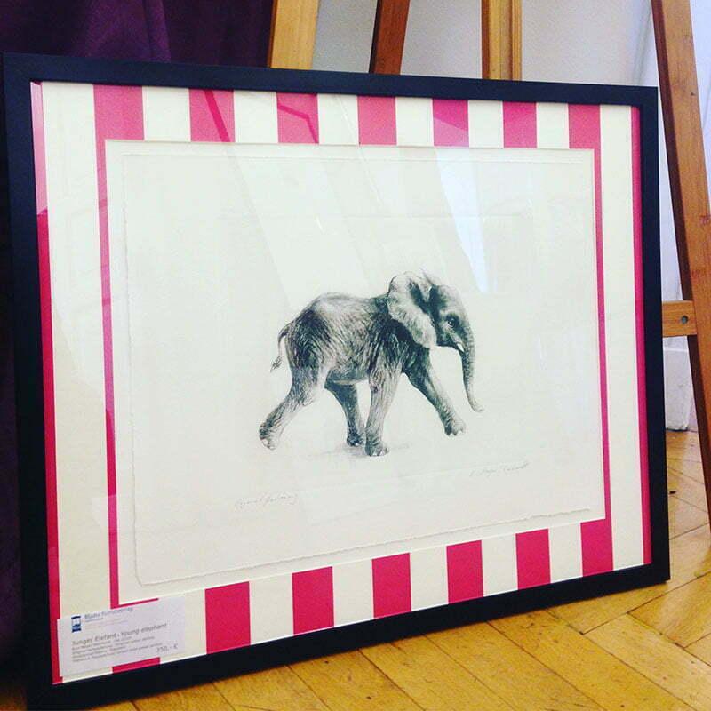 """""""Junger Elefant"""" vom Blanc Kunstverlag"""