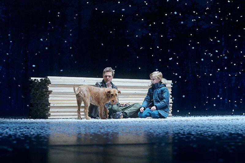 """Theater-Hund Lotti im Stück """"Die Jagd"""" am Theater Bielefeld"""