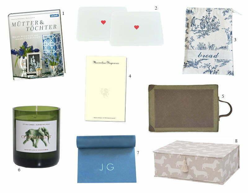 Stilvolle Geschenkideen zum Muttertag von Rabe von Pappenheim, Copperprint, Allesklarschiff und Co.