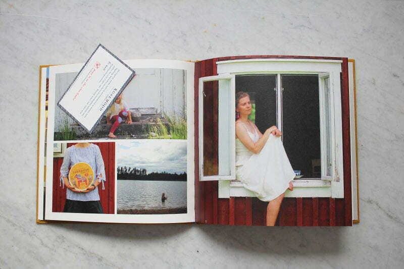 Hardcover-Buch mit Stoffeinband vom Atelier Rosemood