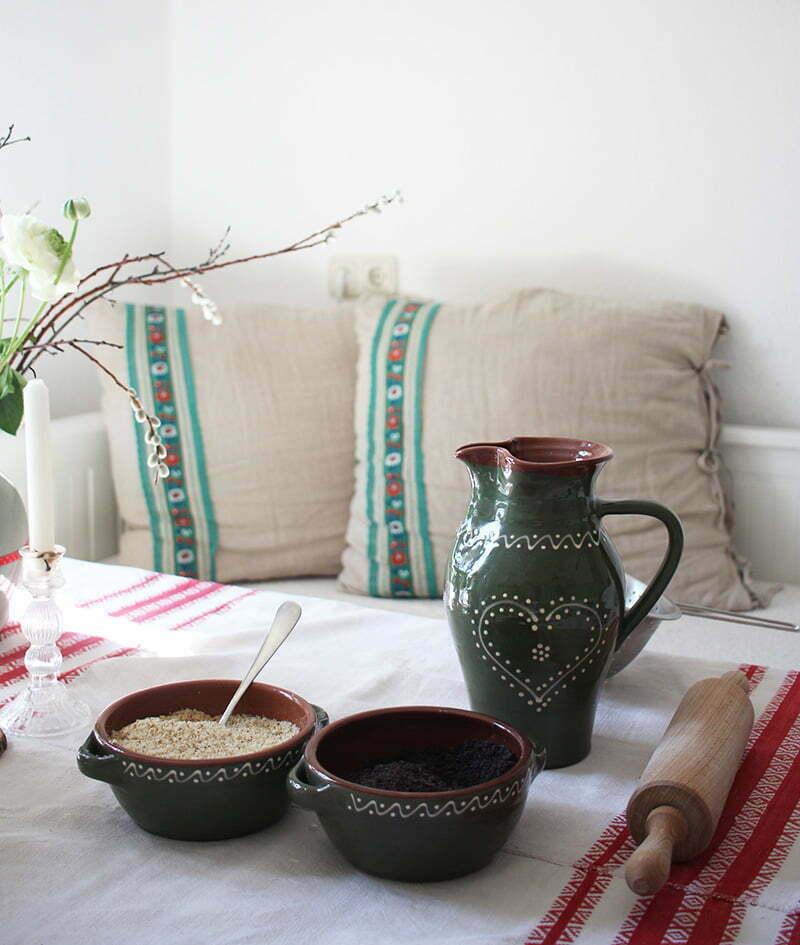 Slowakische Küche: traditionelles slowakisches Geschirr
