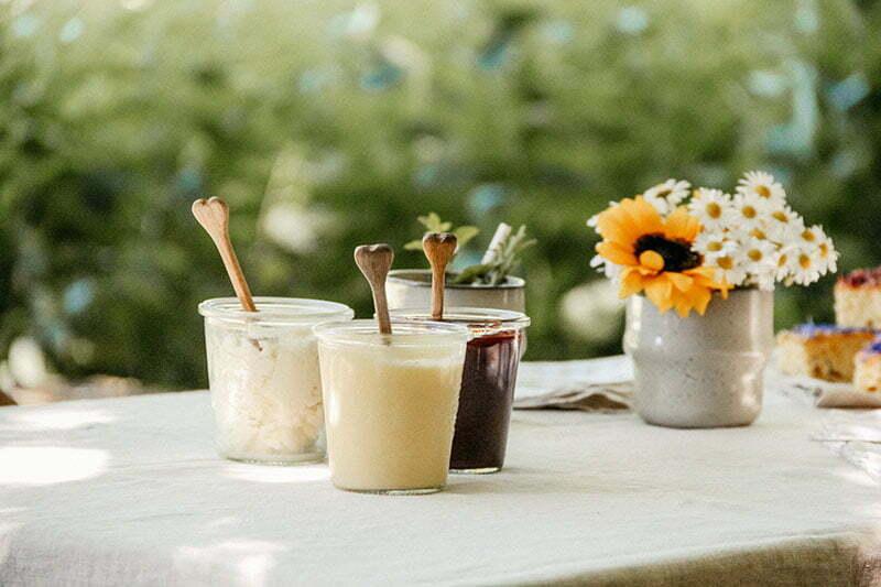 Eine Tea Time im Sommer mit Erdbeer-Limetten-Marmelade