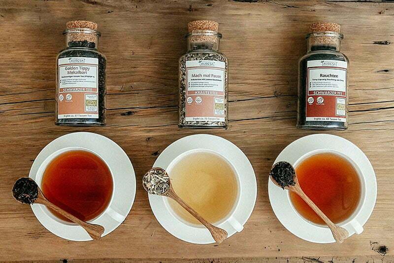 AURESA: Bio-Tee im Glas