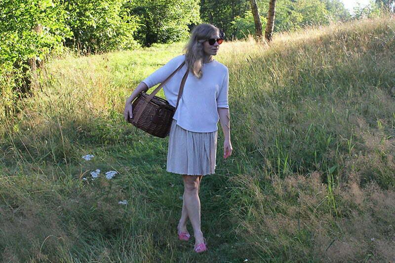 Runder Picknickkorb von Les Jardins de la Comtesse