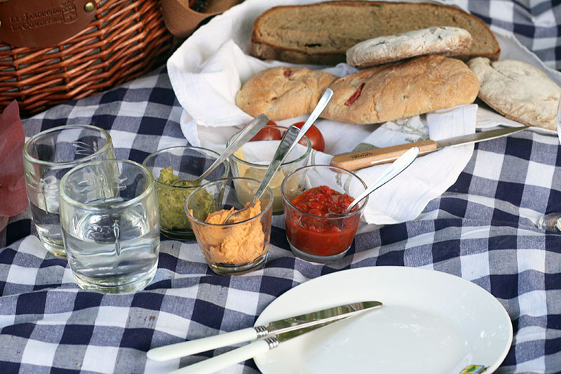 Karierte Picknickdecke von Les Jardins de la Comtesse