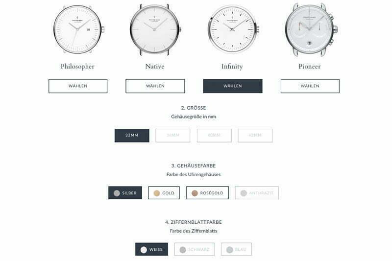 Personalisierte Uhr von Nordgreen