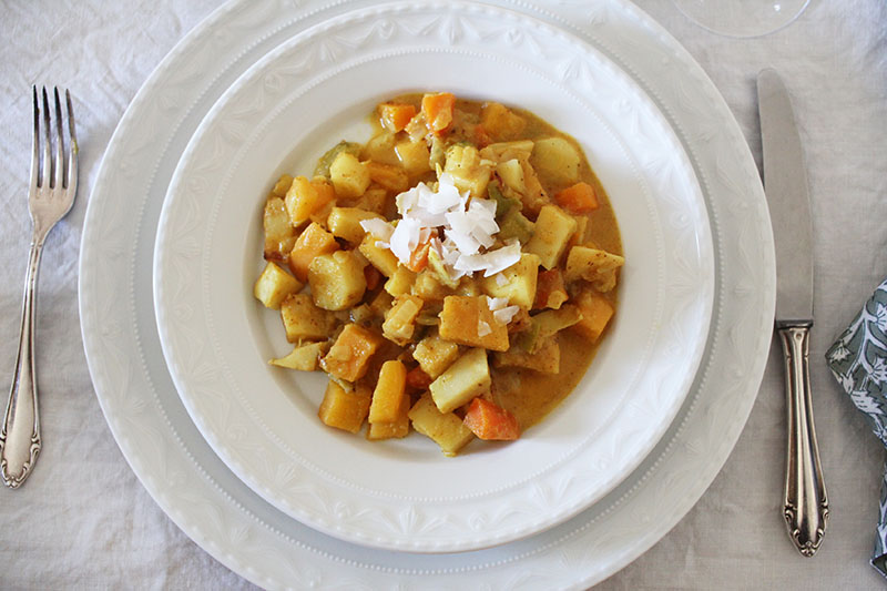 Downton Abbey Menü: Gemüsecurry mit Wurzelgemüse