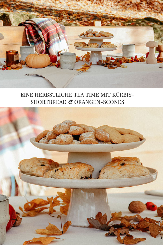herbstliche tea time im wald