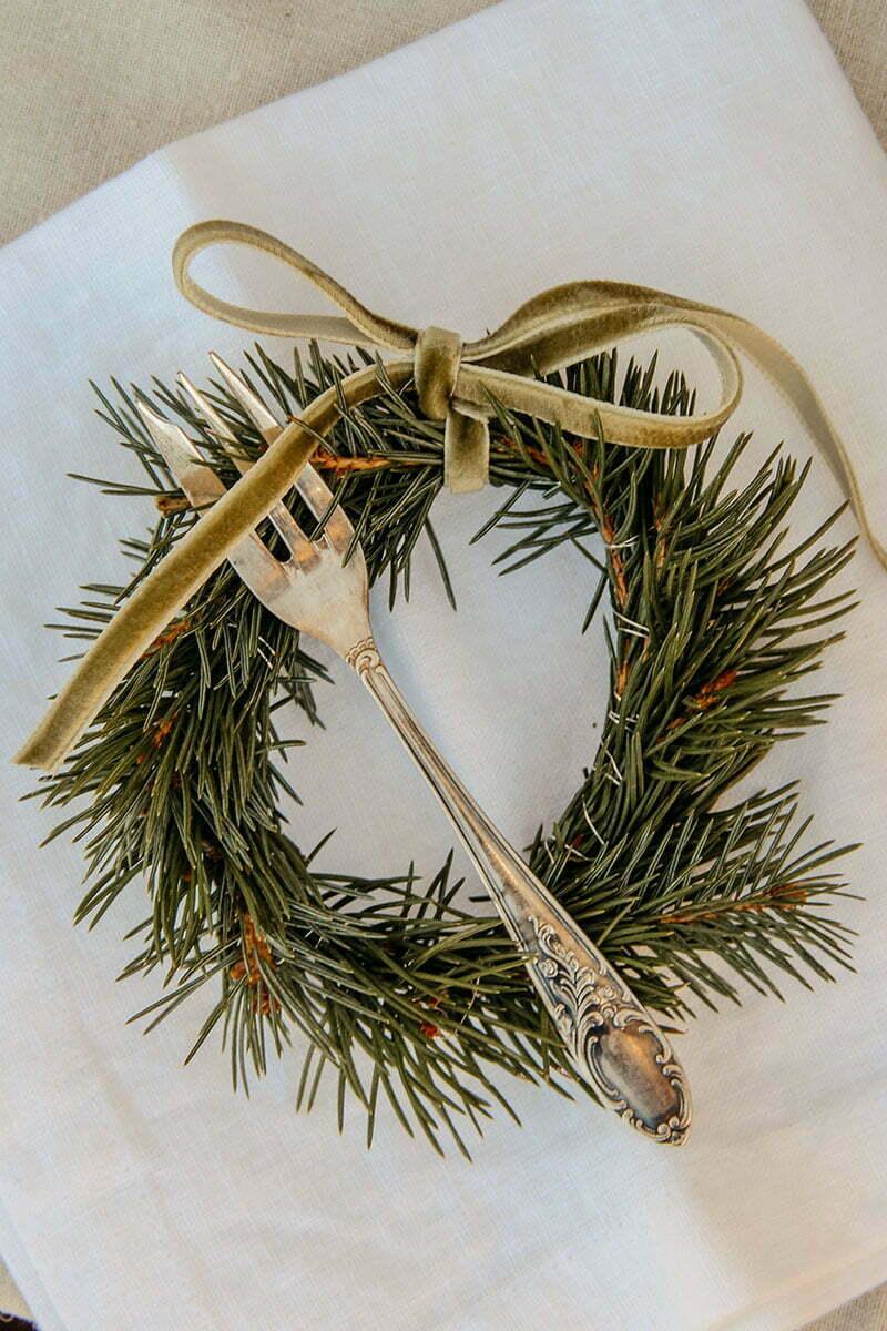 Weihnachtsdeko: Mini-Kränze basteln
