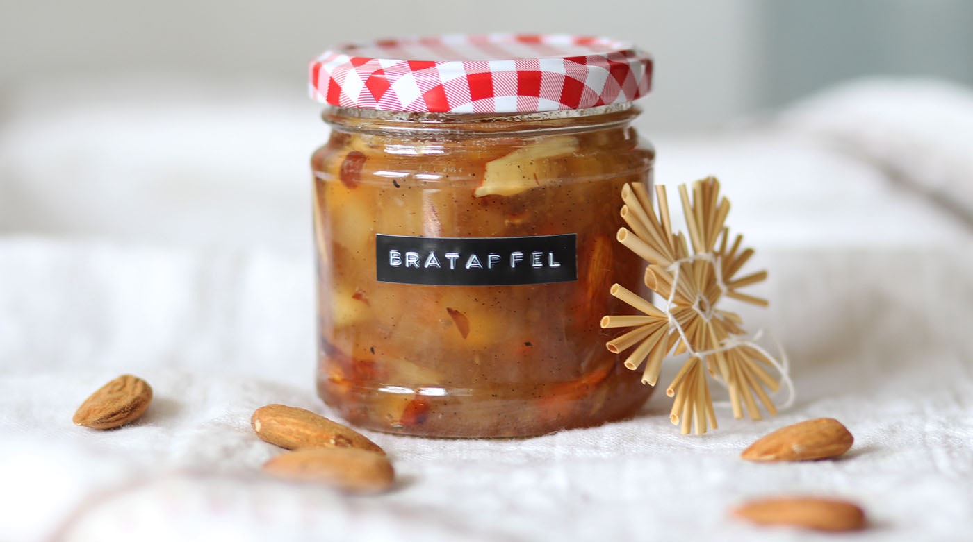 Saison-Rezept: Bratapfel-Marmelade mit Mandeln