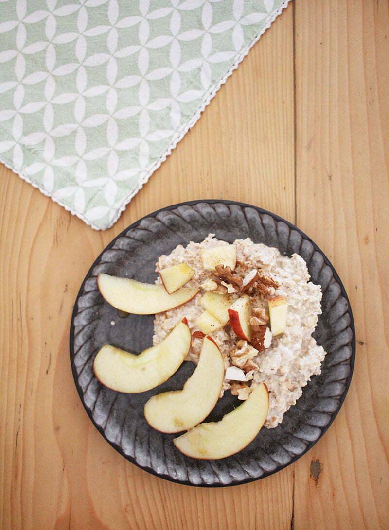 Vegane Frühstücksideen: Birchermüsli mit Cashewmilch
