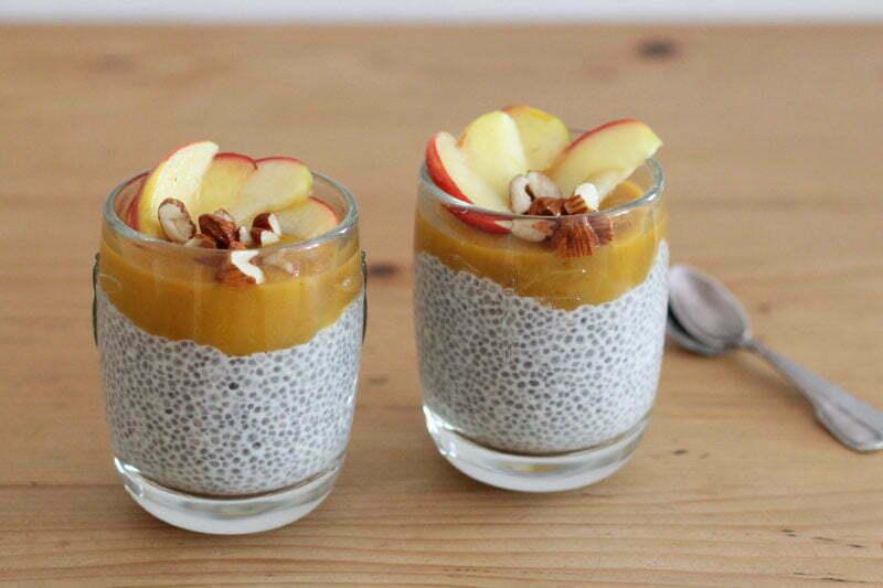 Vegane Frühstücksideen: Chia-Pudding mit Cashewmilch
