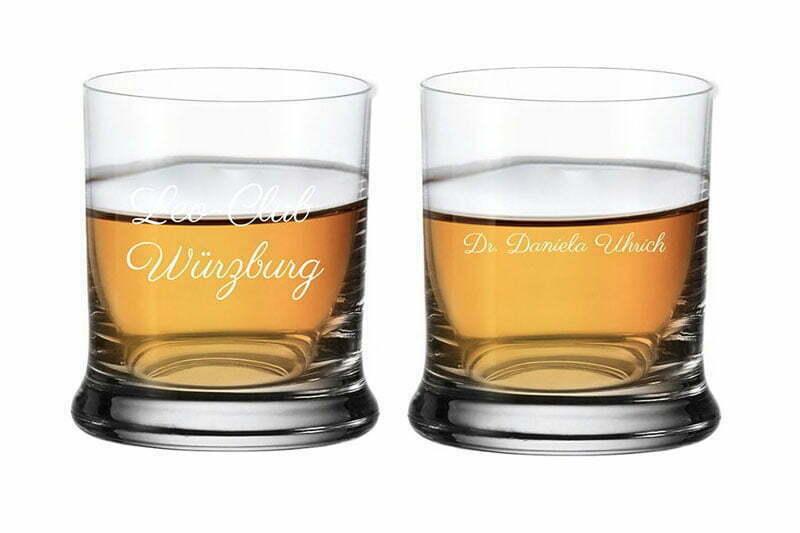 Gravierte Whiskeygläser von Leonardo
