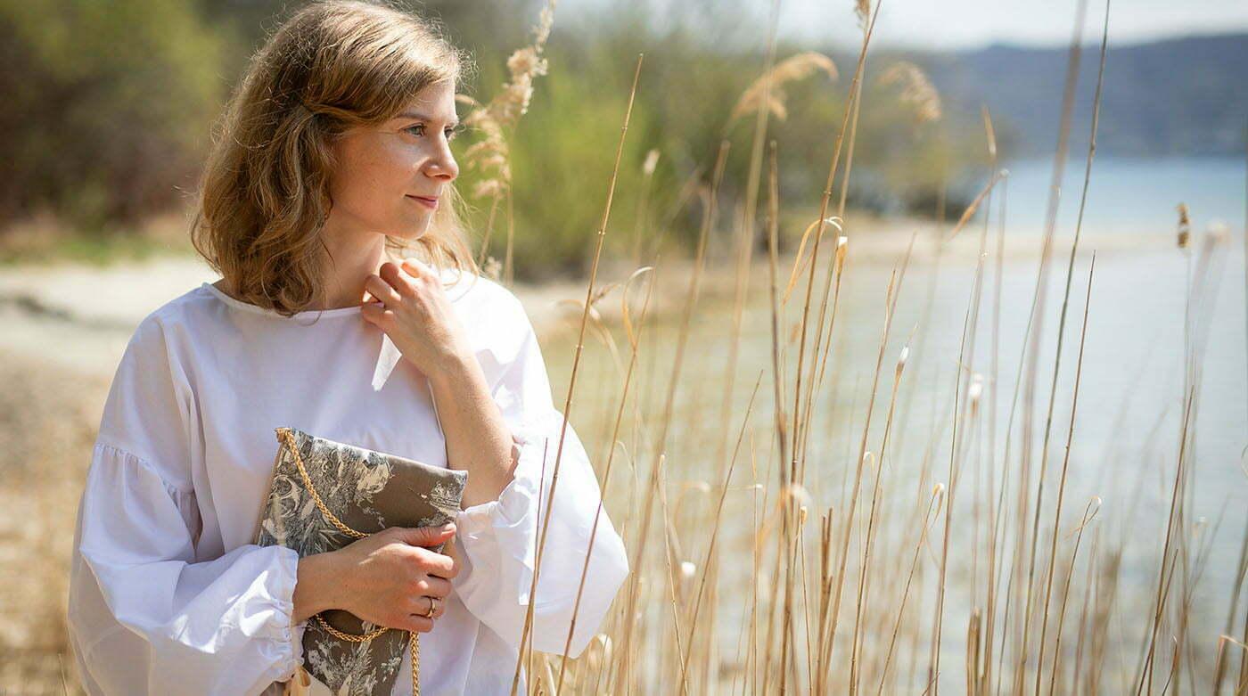 Outfitpost: Mit byMi-Bluse & Stilstück-Clutch am Ammersee
