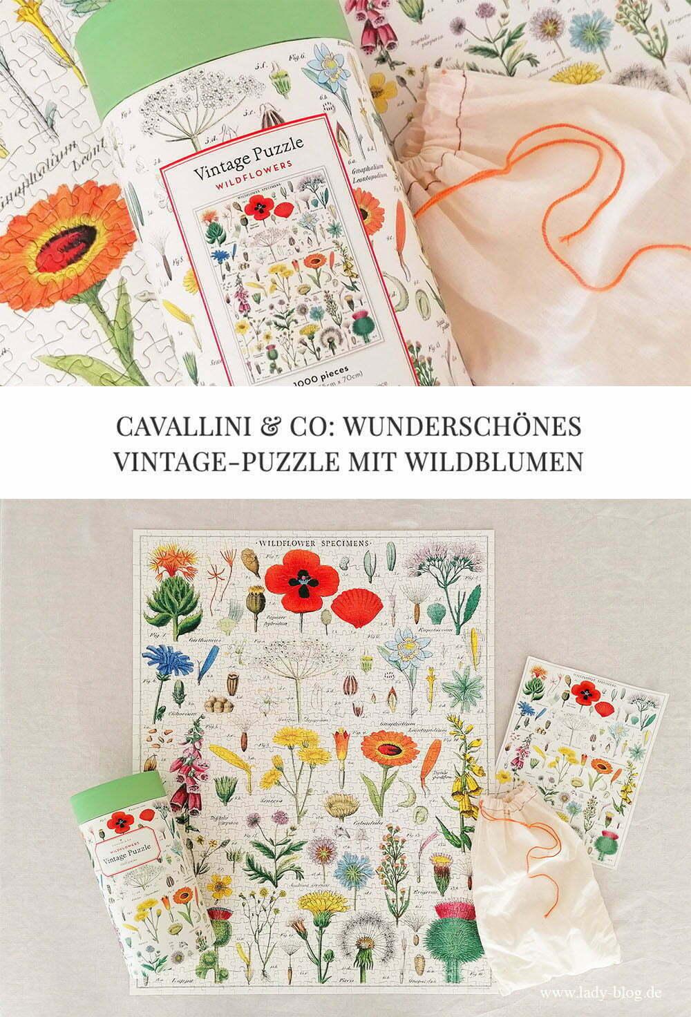 Cavallini Vintage Puzzle Wildflowers