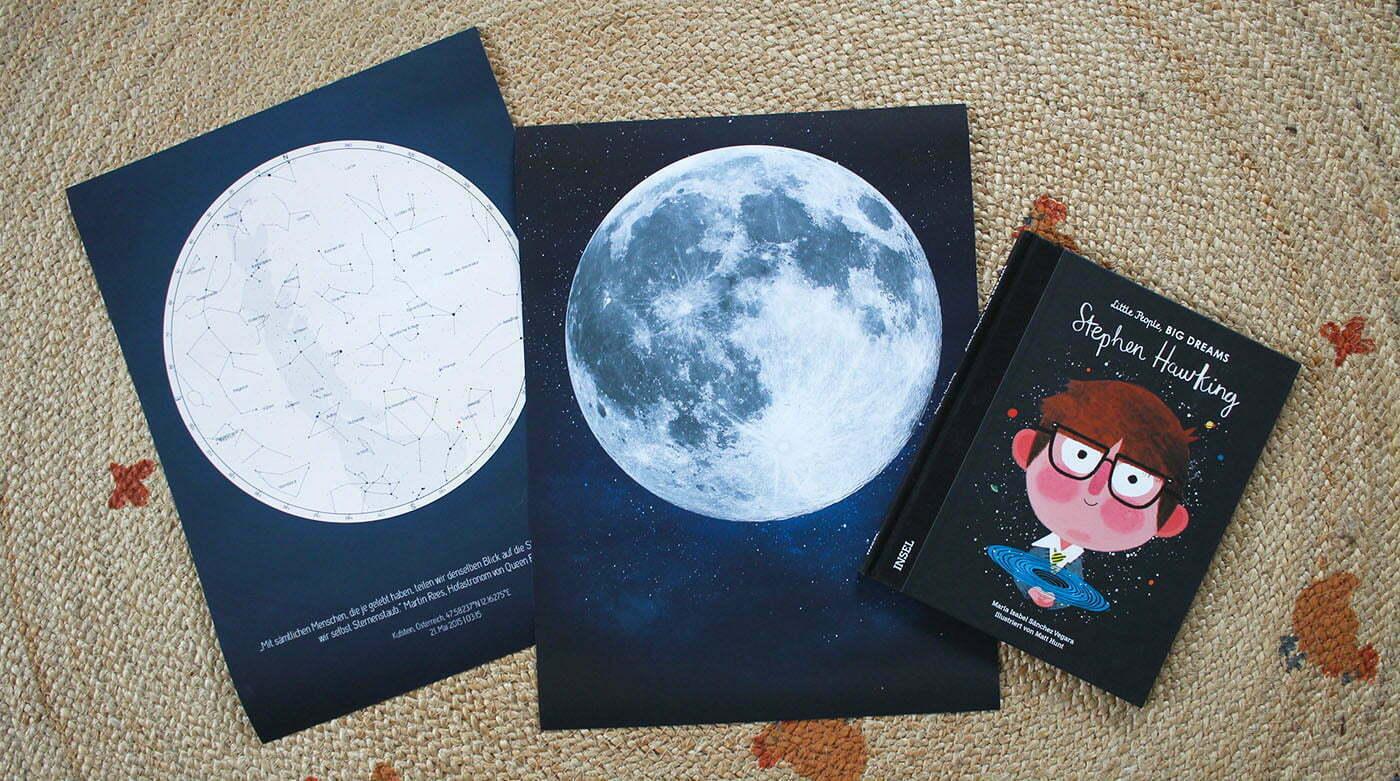 Positive Prints: Sternenkarten & Mond-Poster für Weltall-Fans