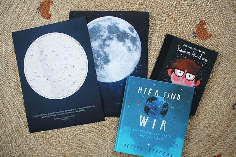 Positive Prints Sternenkarten und Mondposter für Weltall-Fans