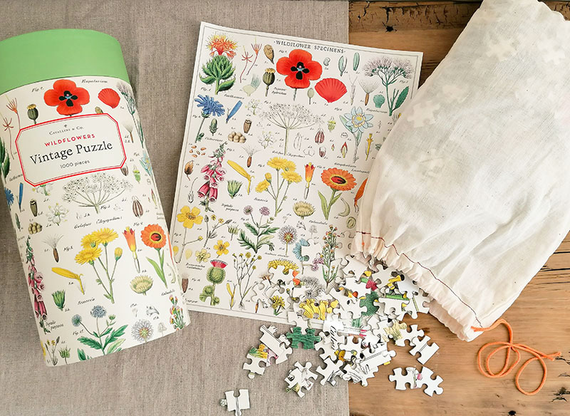 Cavallini Papers & Co: Wunderschönes Vintage-Puzzle