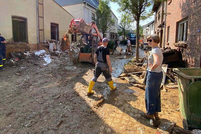 Flutkatastrophe: Hochwasser in Odendorf