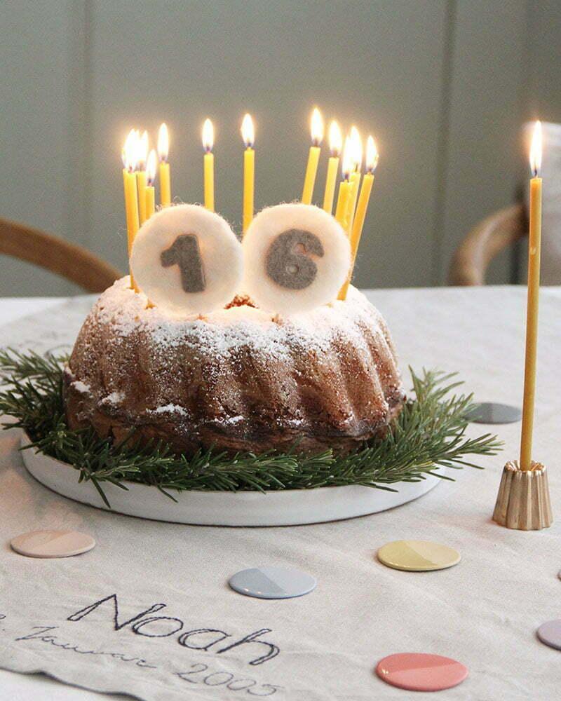 Nachhaltige Geburtstagsdeko: Gefilzte Cake-Topper