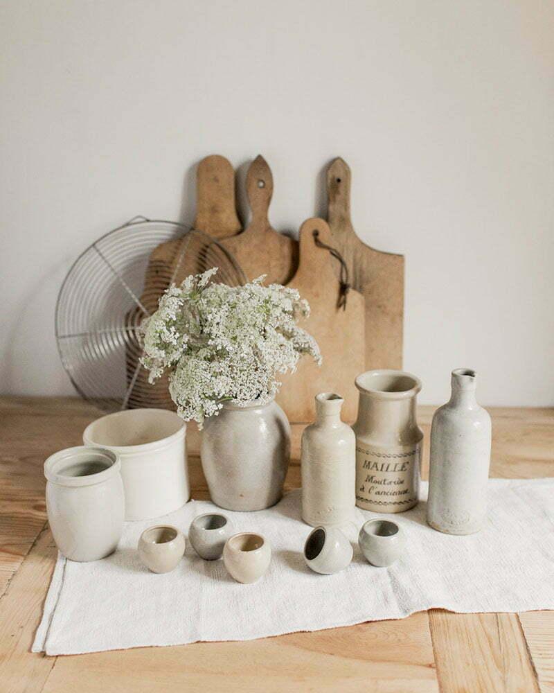 Stoneware Bane: Vintage-Schätze aus Frankreich